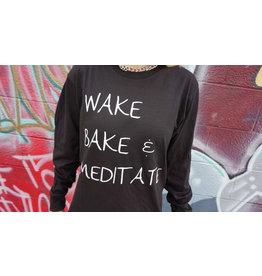 Be Lit Be Lit Long Sleeve - Wake Bake Meditate Small
