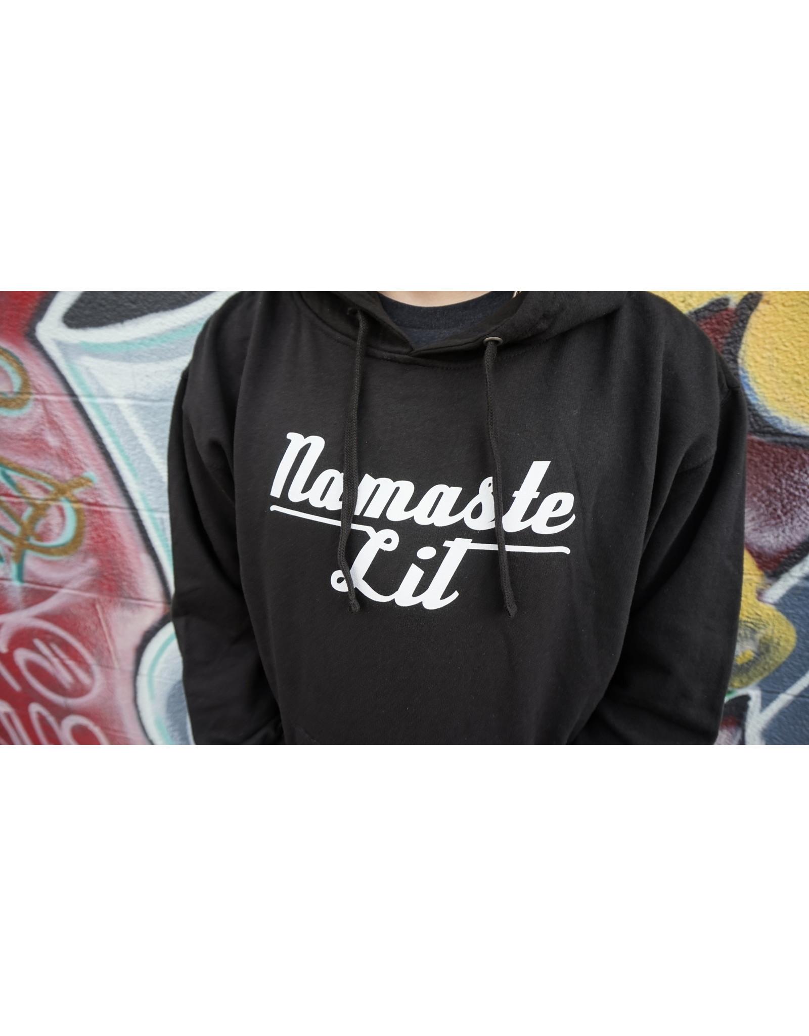 Be Lit Be Lit Black Hoodie - Namaste Lit V2