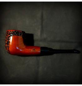 "Shire Shire Pipes 5.5"" Engraved Billard Cherry Tobacco Pipe"