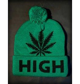 Green High Beanie