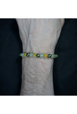 6mm Aventurine, Green Citrine & Pyrite Bracelet