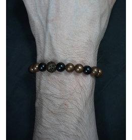 8mm Copper w/ Assorted Stones Bracelet