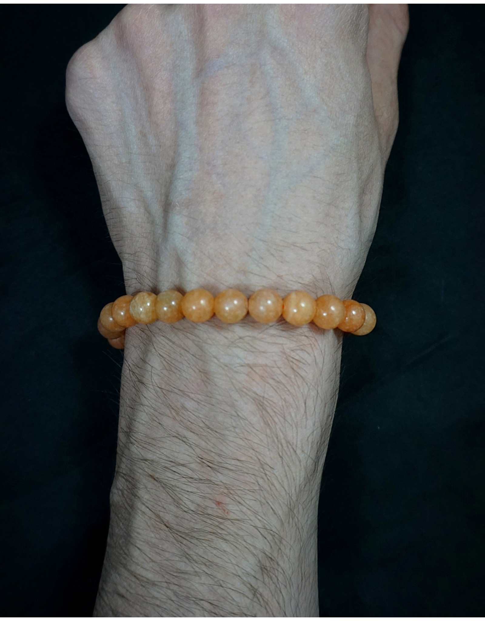 8mm Peach Calcite Bracelet