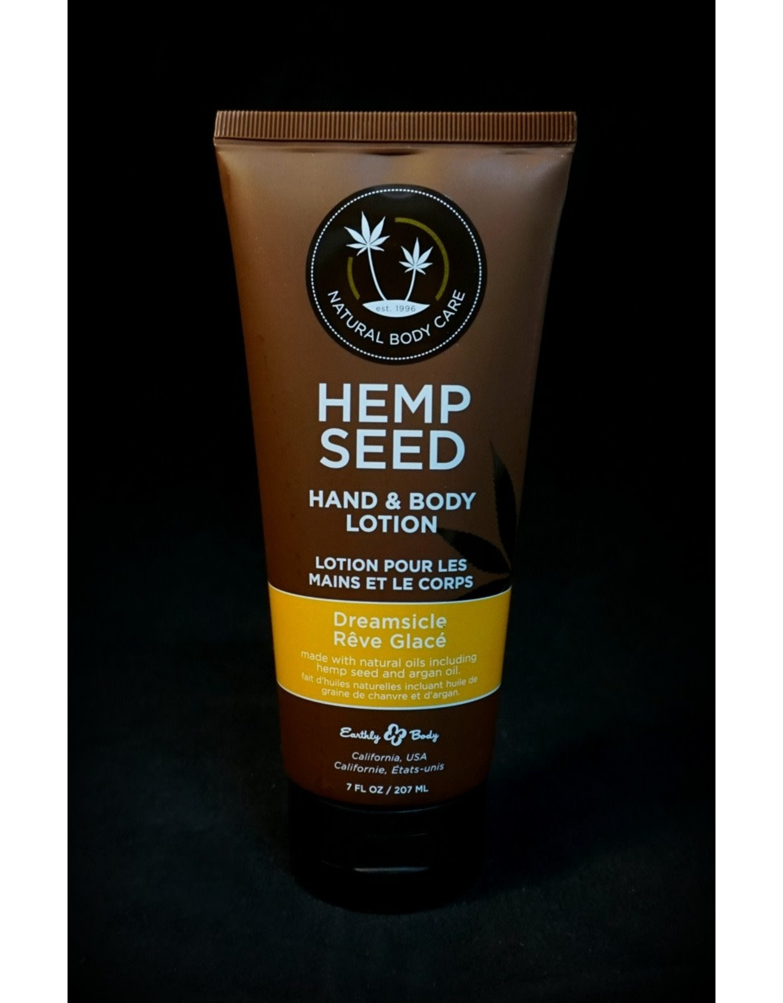 Earthly Hemp Seed Body Lotion 7oz Dreamsicle