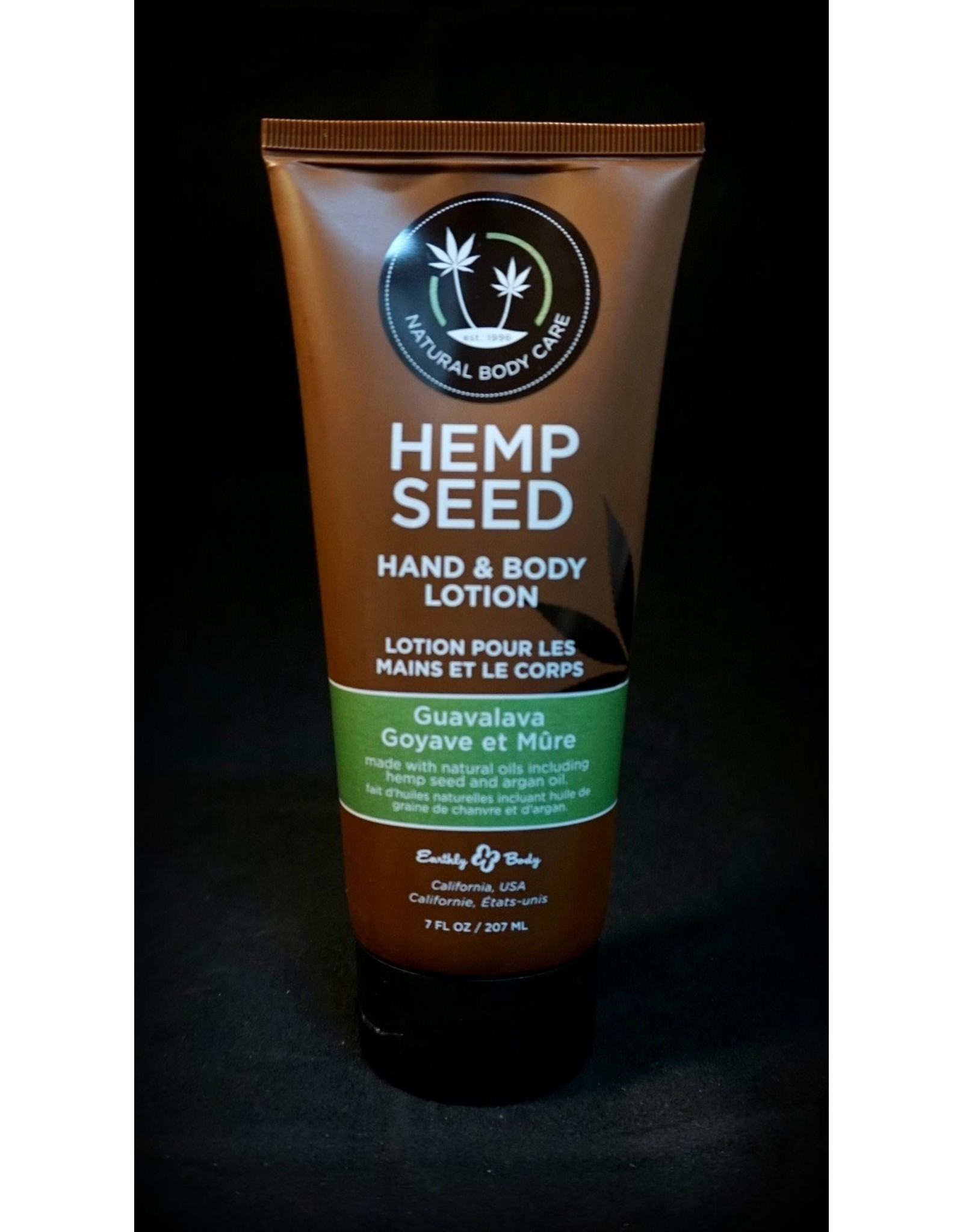 Earthly Hemp Seed Body Lotion 7oz Guavalava