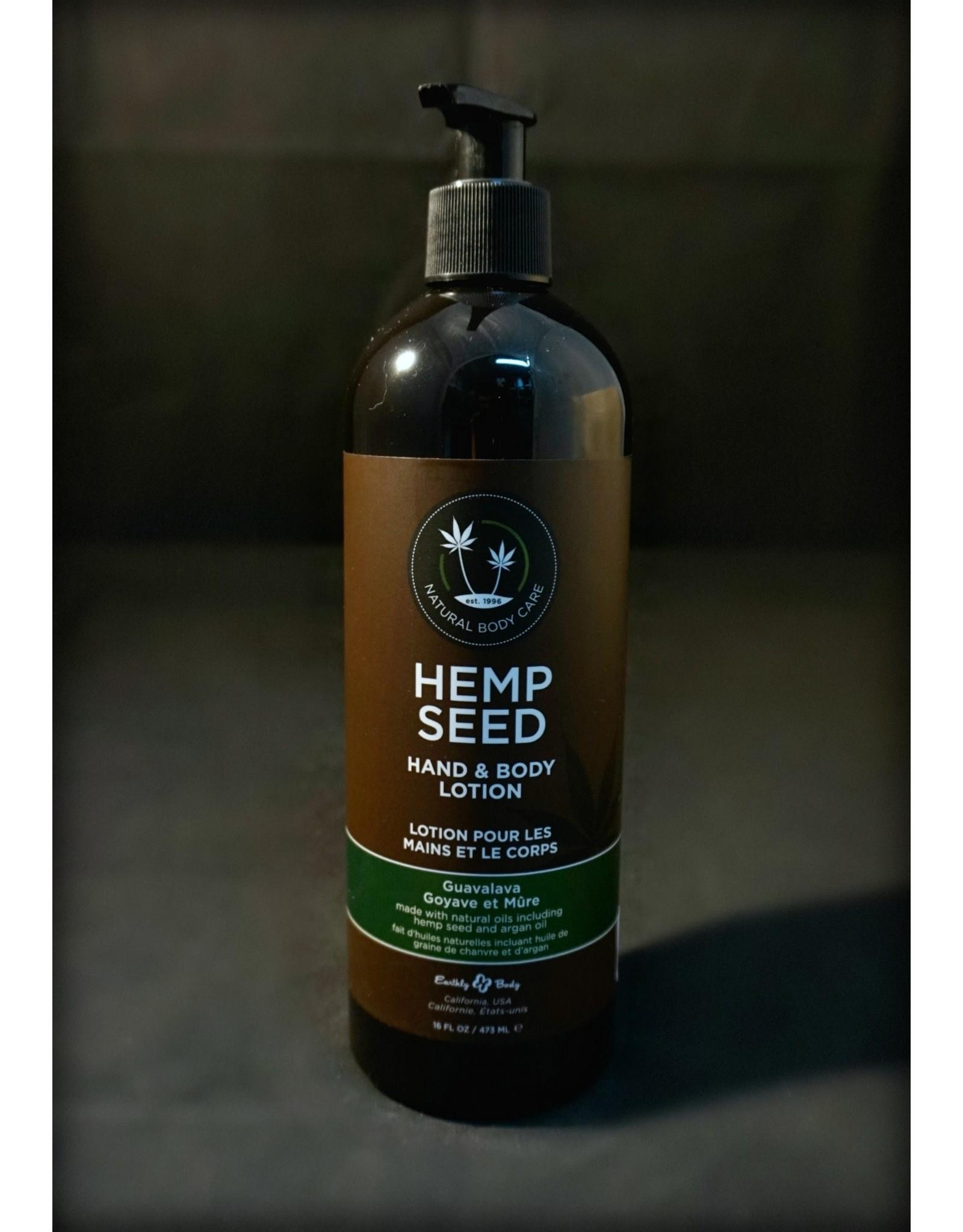 Earthly Hemp Seed Body Lotion 16oz Guavalava