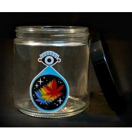 420 Science 420 Science Jars  XLarge All Seeing Leaf Screw Top