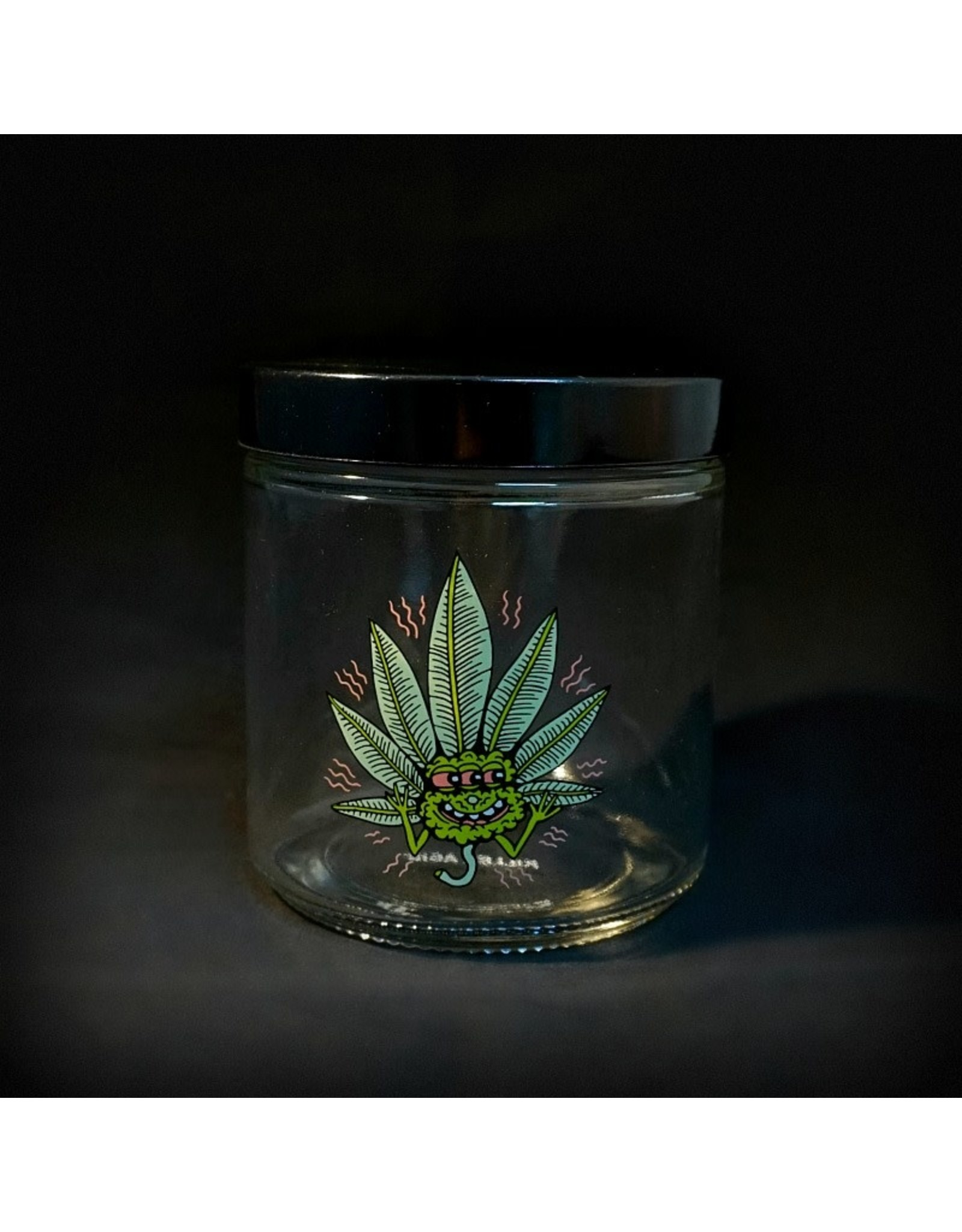 420 Science 420 Science Jars  XLarge Happy Leaf Screw Top