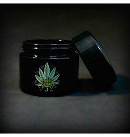420 Science 420 Science Jars Small Happy Leaf UV Screw Top