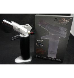 "EverTech Torch Lighter Dual Flame 6"" Silver"