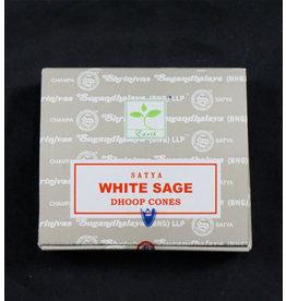 Satya White Sage Dhoop Cones
