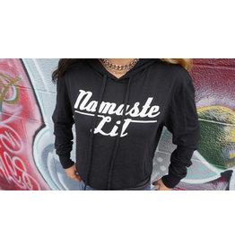 Be Lit Be Lit Black Cropped Hoodie Namaste