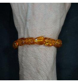 Tumbled Stone Bracelet - Synthetic Amber