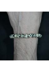 Elastic Bracelet 8mm Round Beads – Dalmation