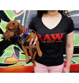Raw Raw Ladies Black Tee