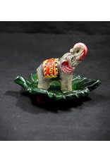 Hand Painted Lucky Elephant Incense Burner