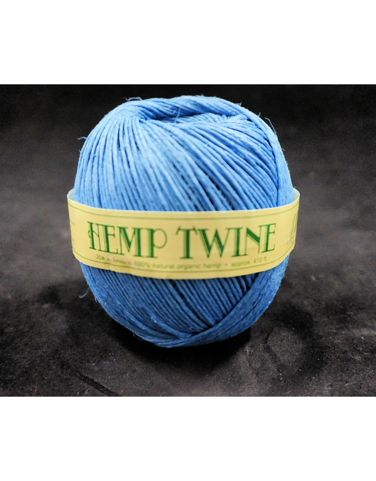 Light Blue Hemp Twine 1mm 100g