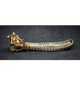 Sitting Ganesha on Peacock Incense Burner