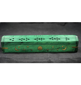 Celestial Wood Coffin Burner Green
