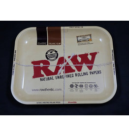 Raw Raw Aluminum High Sided Rolling Tray - Large