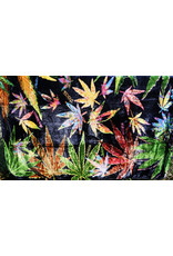 Hemp Leaf Collage Fleece Blanket