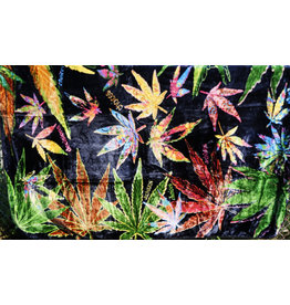 Hemp Leaf Collage Fleece Blanket