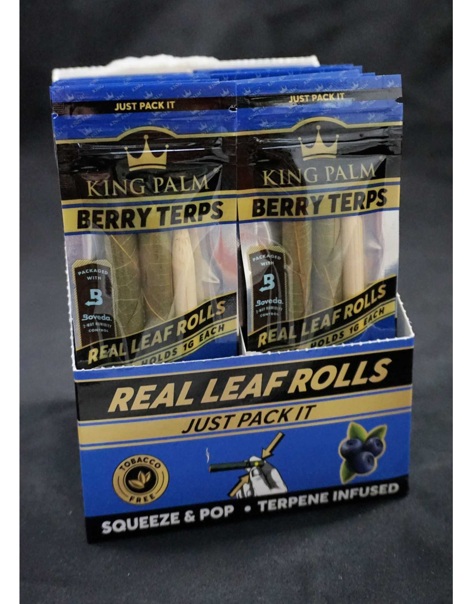 King Palm King Palm Pre-Roll Wraps – 2pk Mini Berry Terps