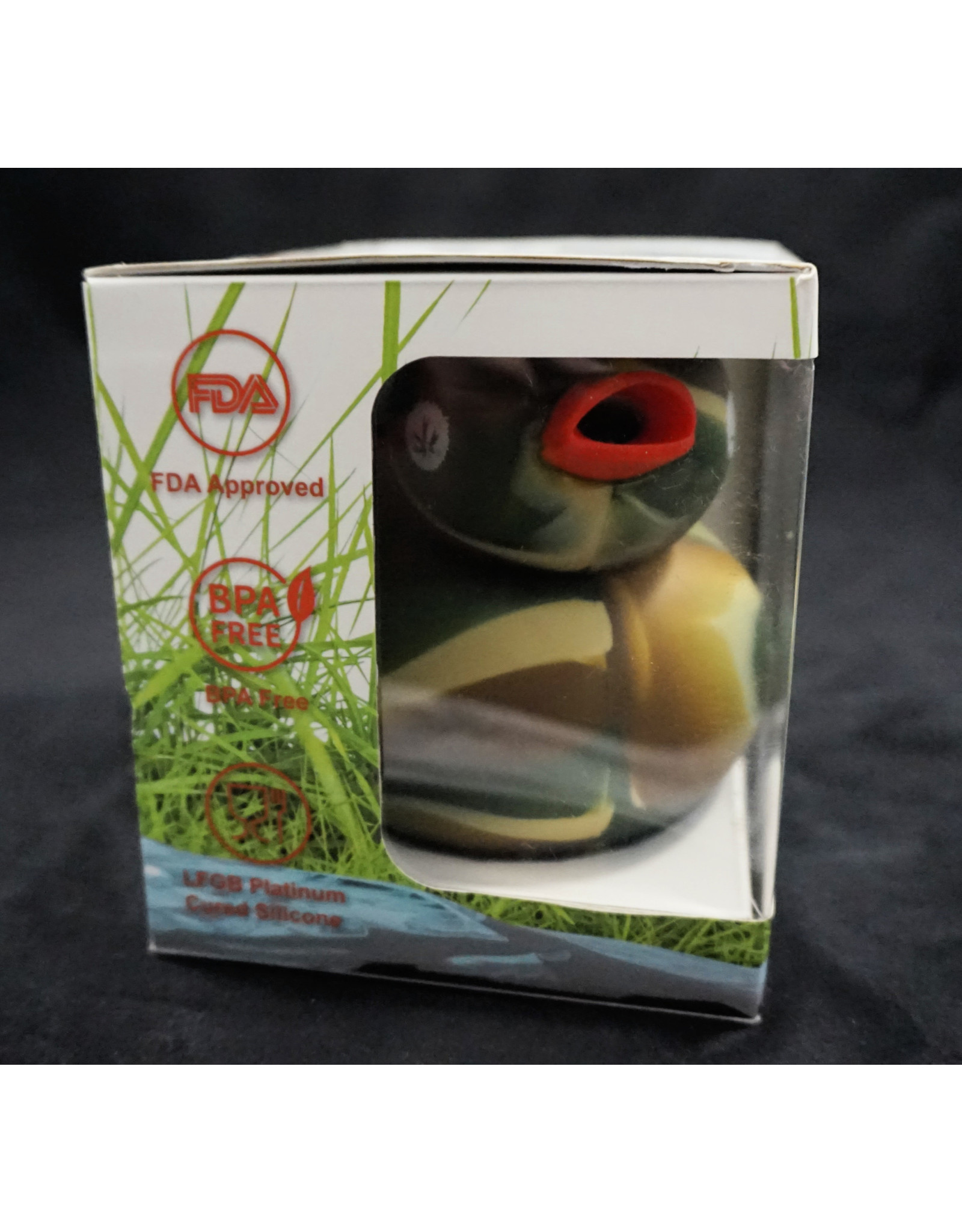 . Silicone Duck Waterpipe - Piecemaker Kwack Camo