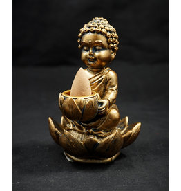 Buddha Backflow Incense Burner 4""