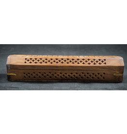 """Coffin Incense Burner - Wood 12"""""""
