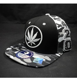 Leaf Circle Black Hat