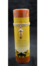 Crystal Energy Pendant Candle - Picture Jasper Courage