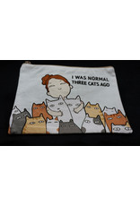 I Was Normal Three Cats Ago Cosmetic Bag