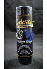Celestial Candle Pewter Pendant - Midnight Dragon