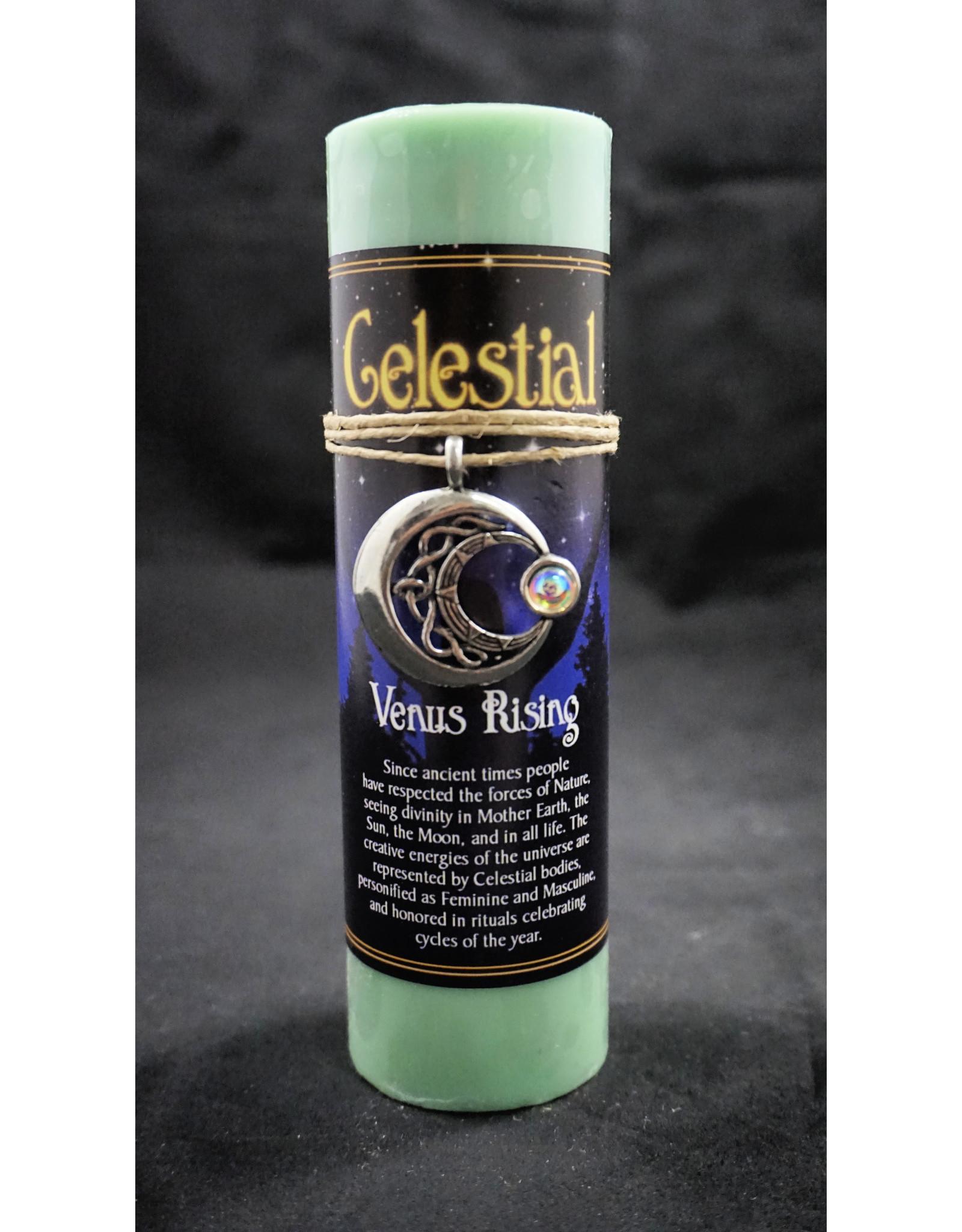 Celestial Candle Pewter Pendant - Venus Rising