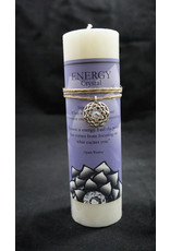 Inspir Lotus Candle Pewter Pendant - Crystal Energy