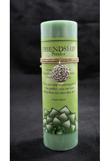 Inspir Lotus Candle Pewter Pendant - Peridot Friendship
