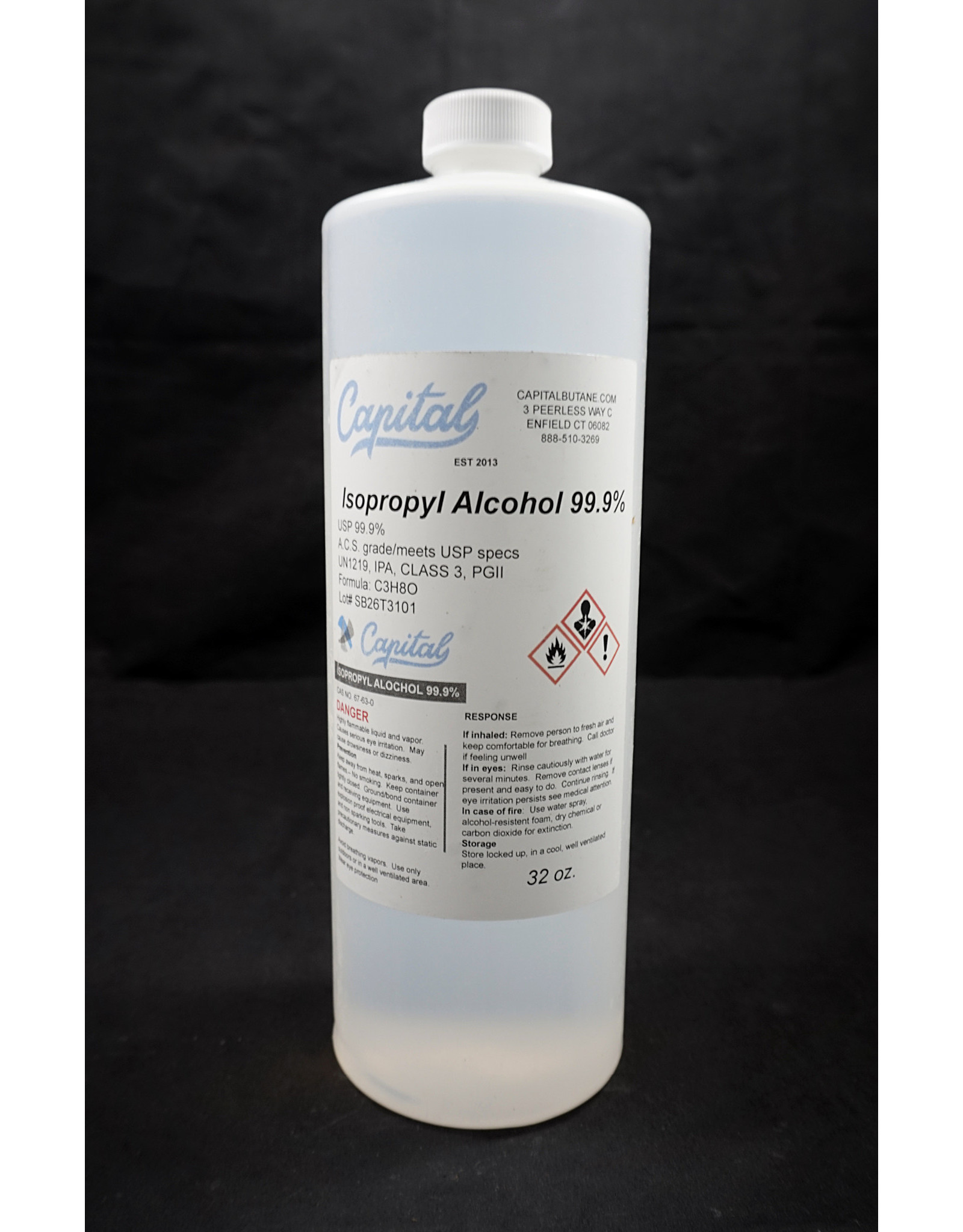 Capital Butane Capital ISO Alcohol 99% Quart