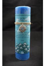 Inspir Lotus Candle Pewter Pendant - Aquamarine Joy