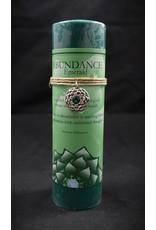 Inspir Lotus Candle Pewter Pendant -Emerald Abundance