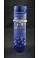 Inspir Lotus Candle Pewter Pendant - Sapphire Serenity