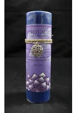 Inspir Lotus Candle Pewter Pendant - Light Amethyst Spirituality