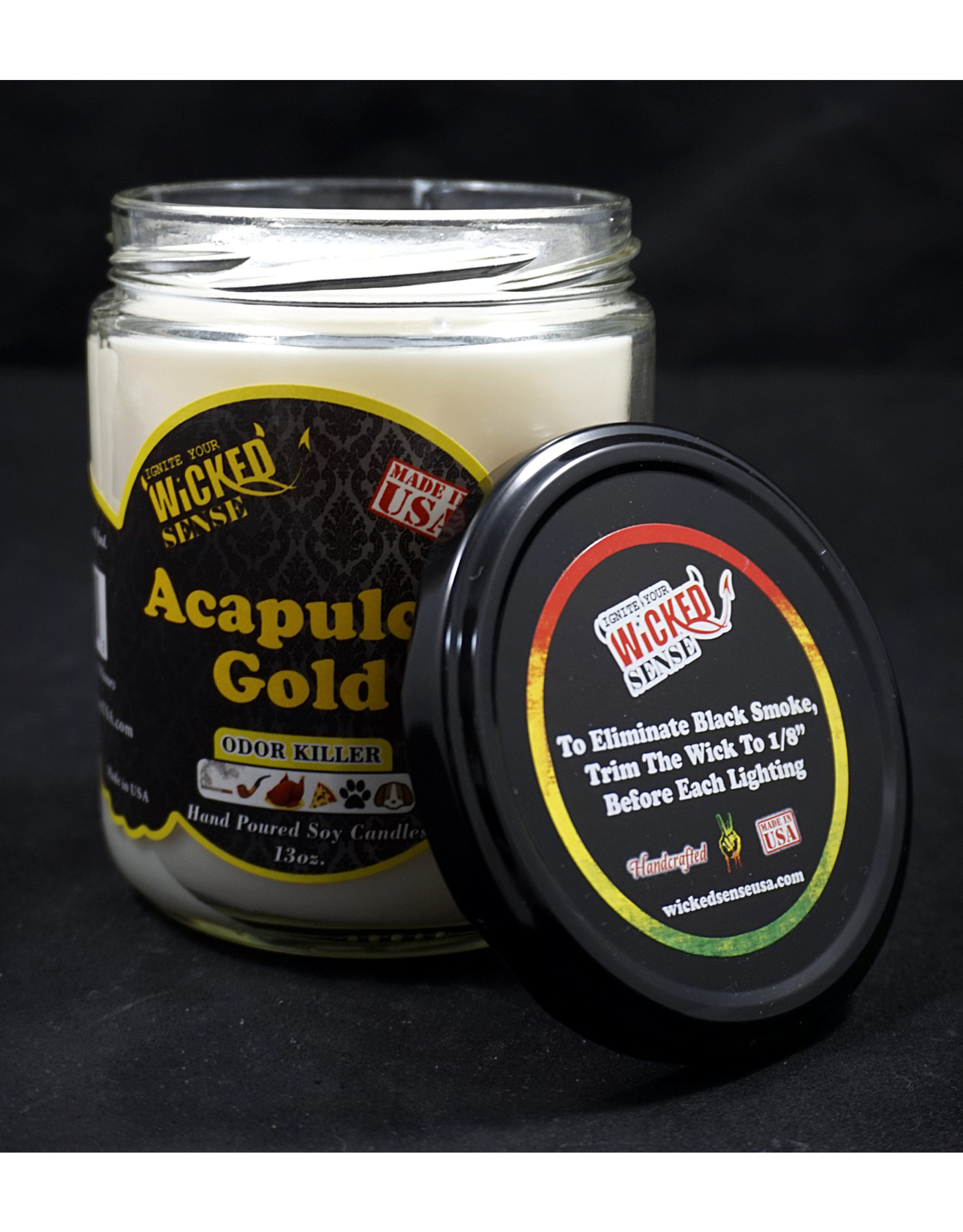 Wicked Sense Soy Candle - Acapulco Gold