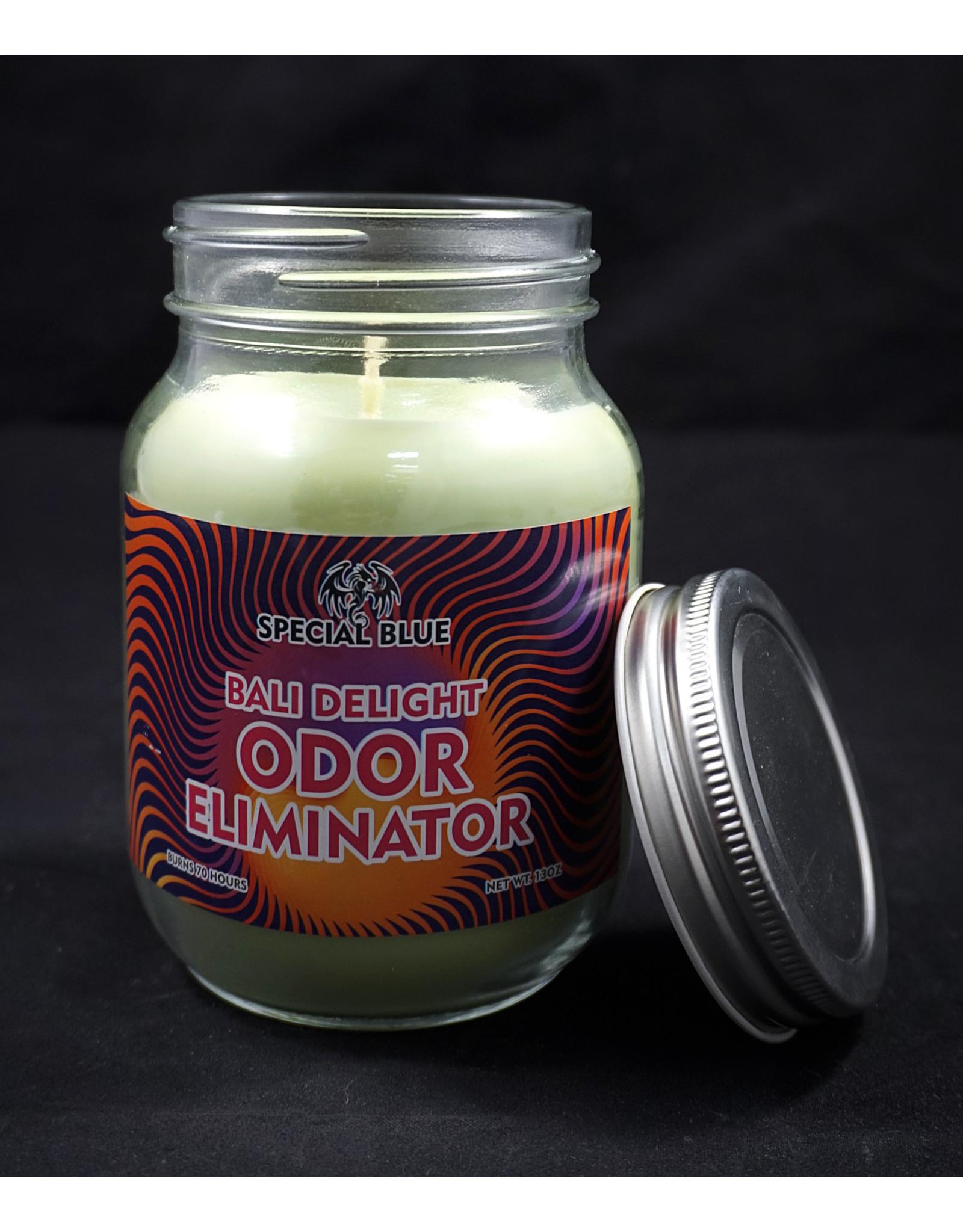 Special Blue Odor Eliminator Candle - Bali Delight