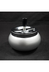 Large Spinning Ashtray - Silver