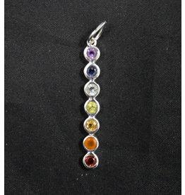 7 Chakra Silver Pendant