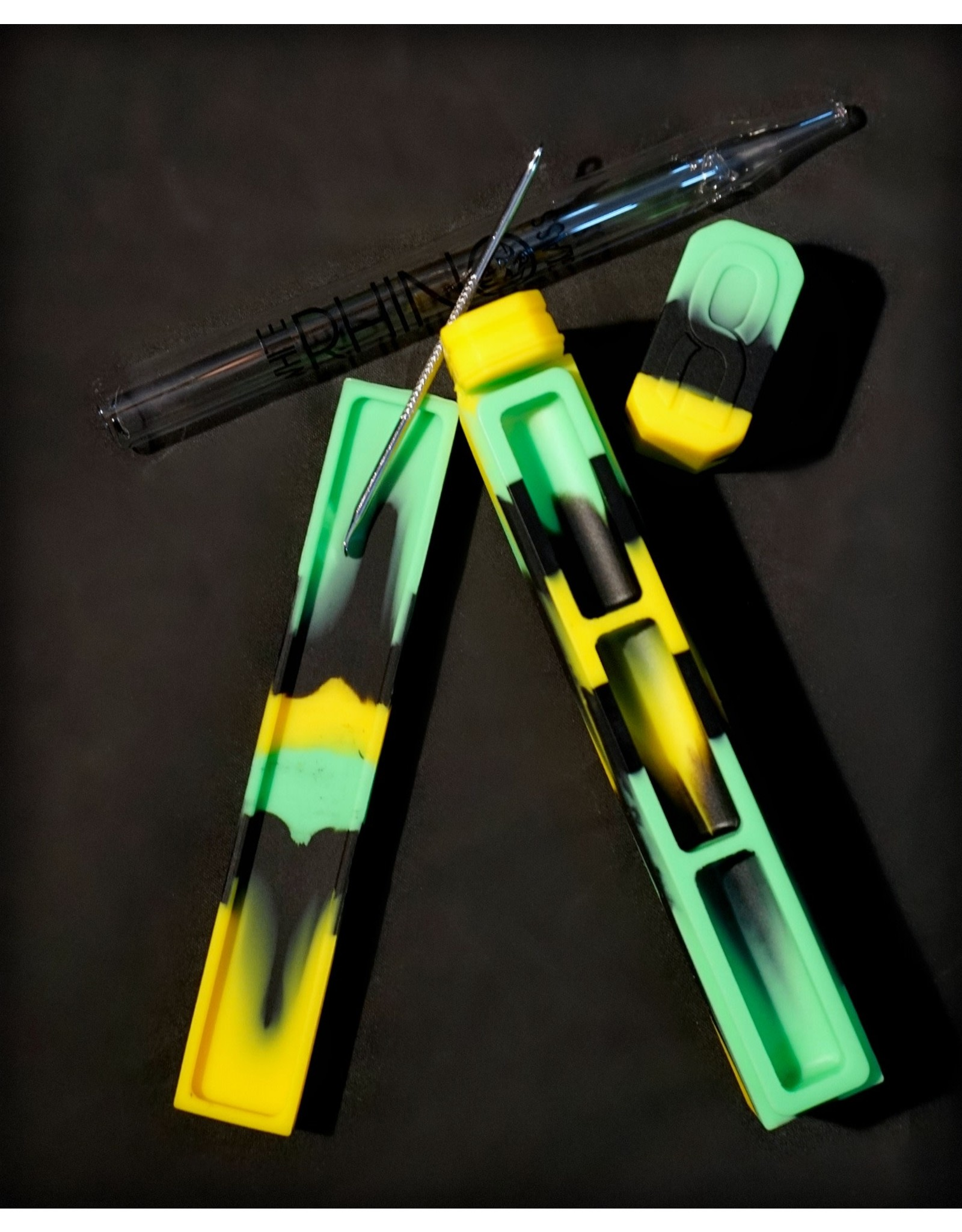 Dab Out Silicone Dab Kit Green/Black/Yellow