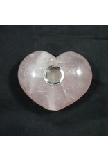 "Gemstone 4"" Hand Pipe - Rose Quartz Heart"