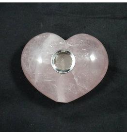 "Gemstone 4"" Hand Pipe - Rose Quartz Heart"