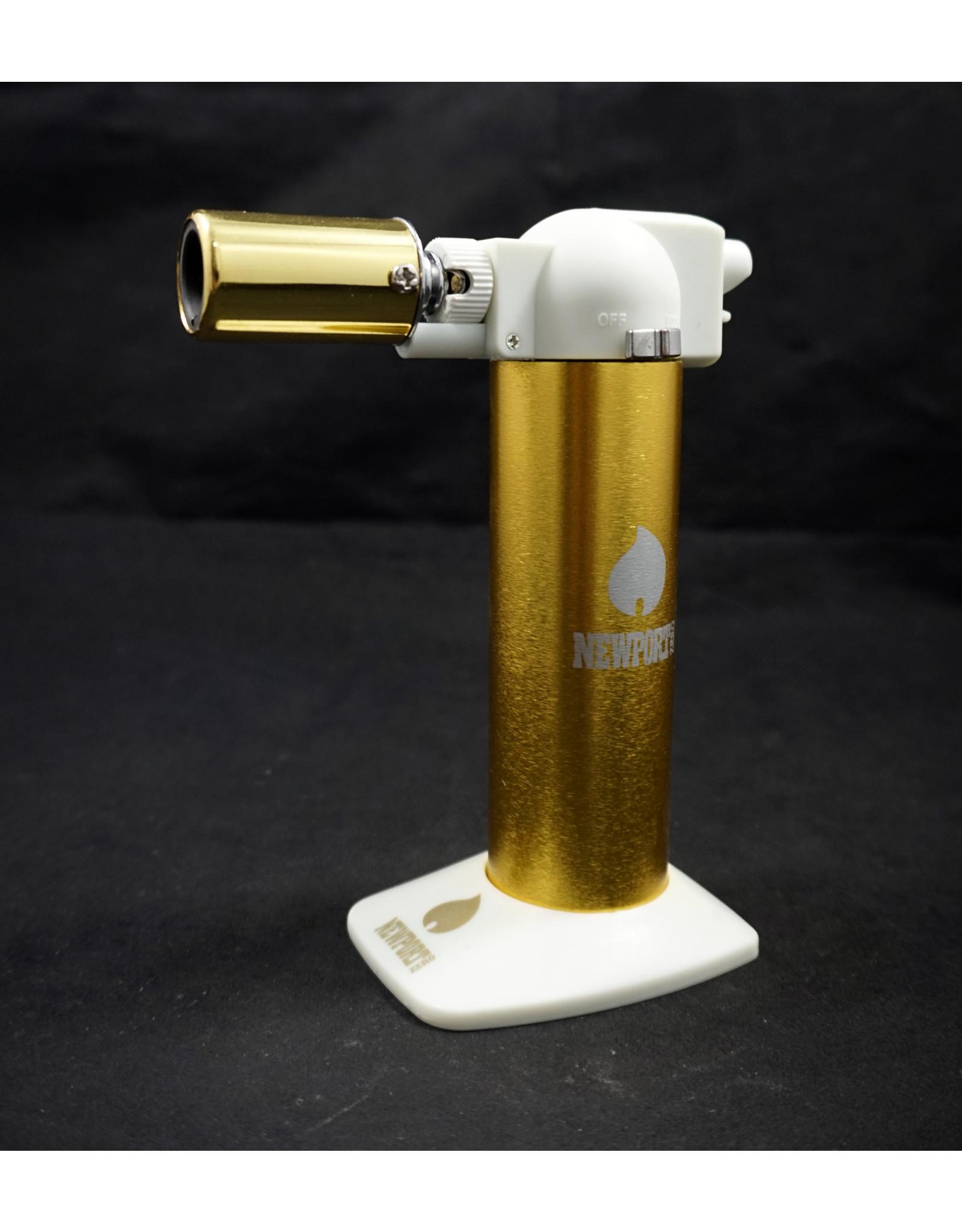 "Newport 6"" Torch - Gold White"